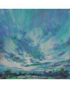 Wolkenlandschaft Cyan