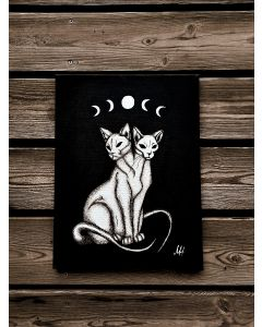 Moon Cats Astrology Witchcraft Sphynx