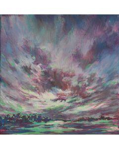 Wolkenlandschaft Violett