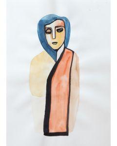 Frau in Farben