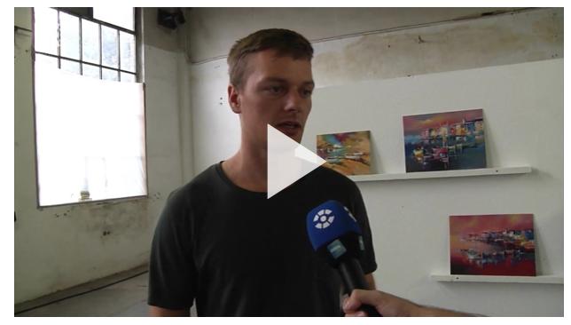 KUNSTSTUDENTEN UND FYNN KLIEMANN VERKAUFEN IHRE WERKE (Sachsen TV)