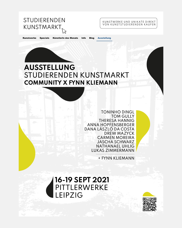Studierenden-Kunstmarkt Ausstellung in den Pittlerwerken